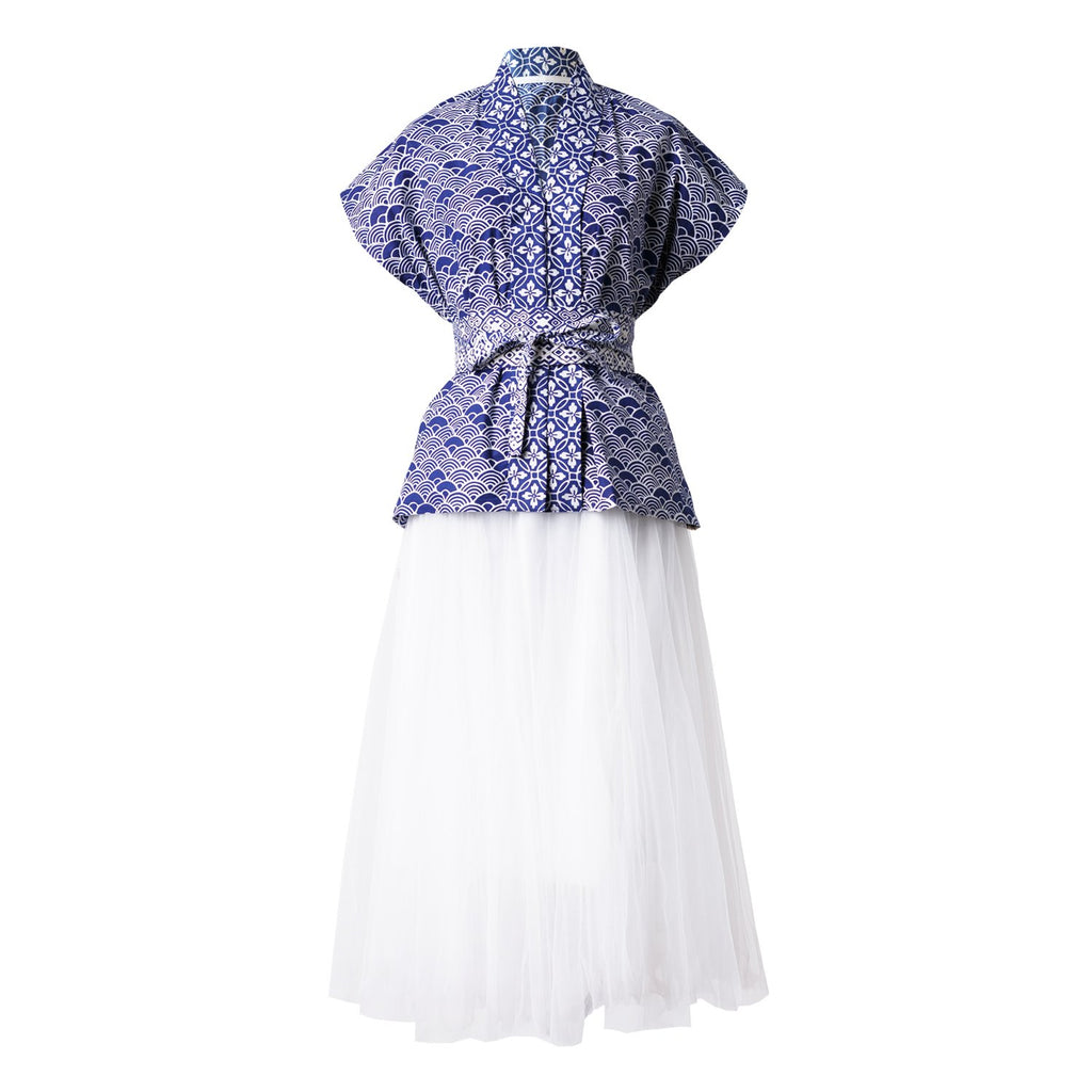Ans.ein Seigaiha Nyonya Top and Skirt-Dresses-DREEMS