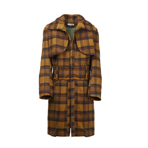 ATHANASIOU Checkered Wool Coat-Coats-DREEMS
