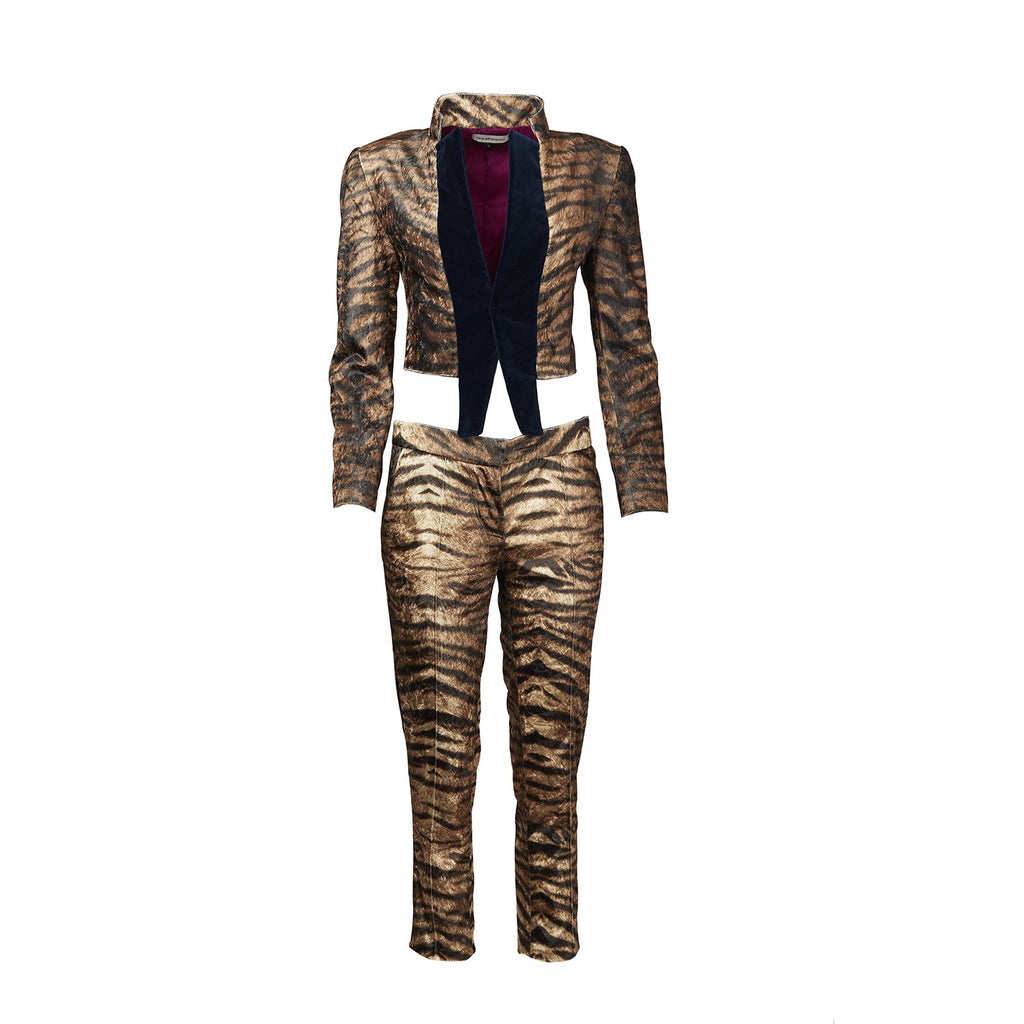 ATHANASIOU Tiger Velvet Suit-Outerwear-DREEMS
