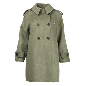 Carol Cao Moss Green Wool Coat-Coats-DREEMS