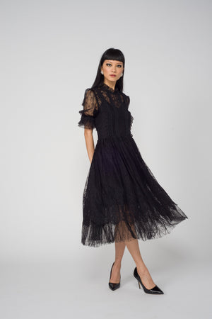Carol Cao The Long Lace Dress-Dresses-DREEMS