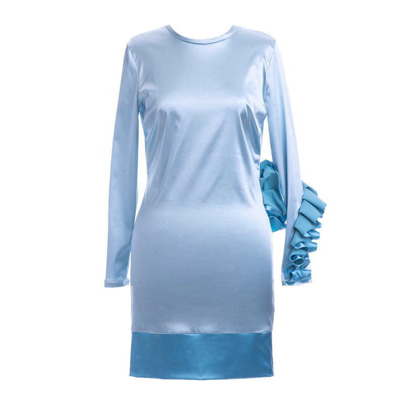 Elena Luka Baby Blue Dress with Ruffles-Dresses-DREEMS