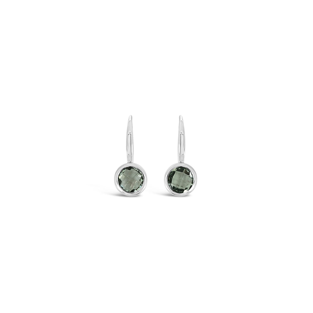 ELVERD DESIGNS Bloom Earrings Green Amethyst