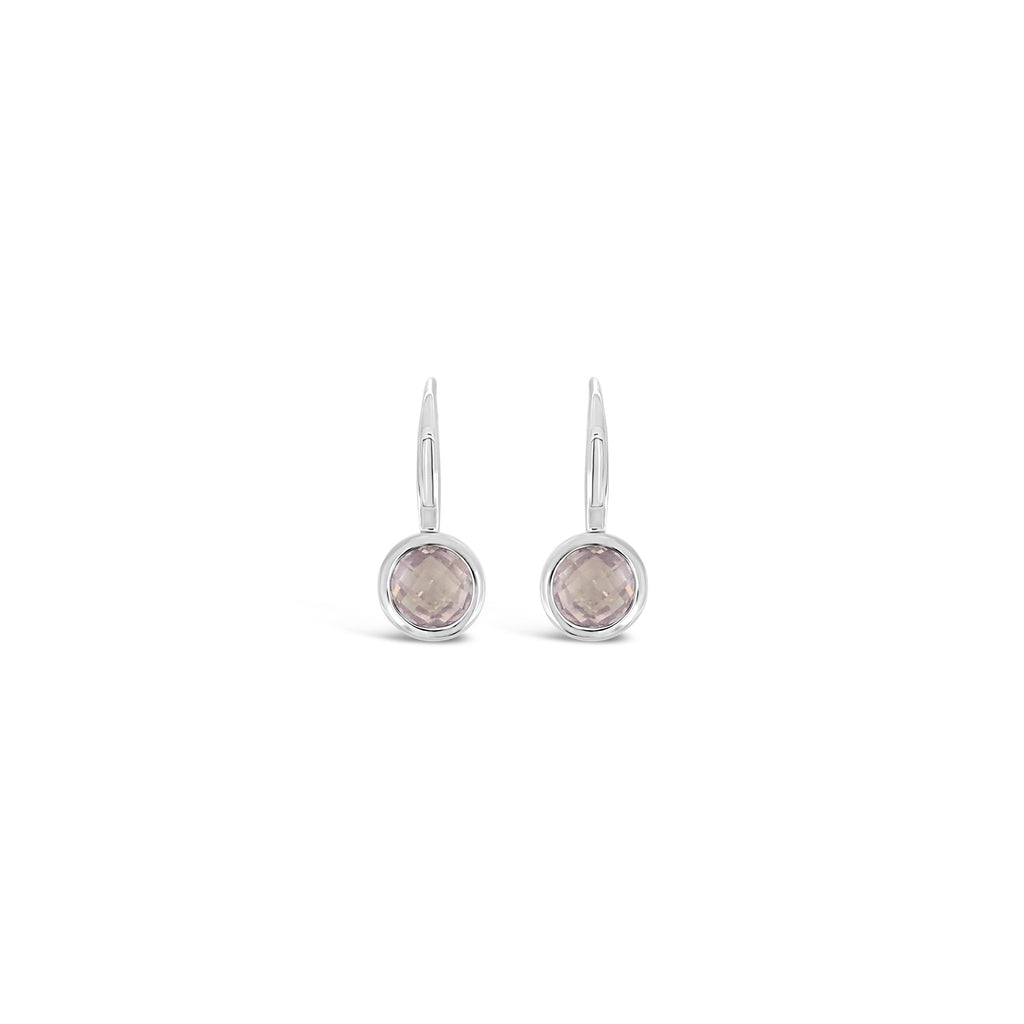 ELVERD DESIGNS Bloom Earrings Rose Quartz