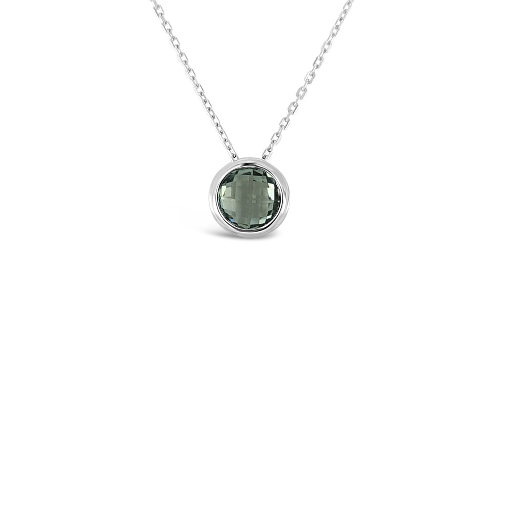 ELVERD DESIGNS Bloom Pendant Green Amethyst