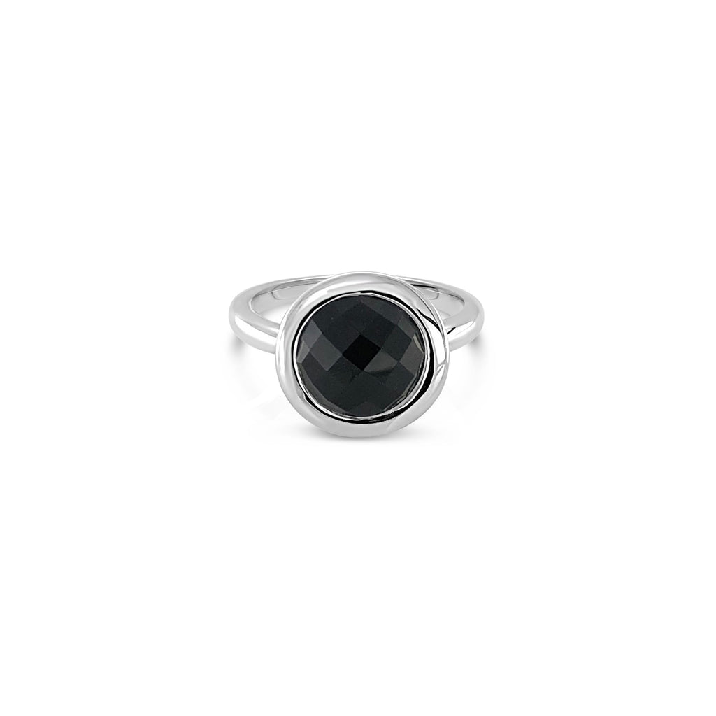 ELVERD DESIGNS Bloom Ring Black Onyx