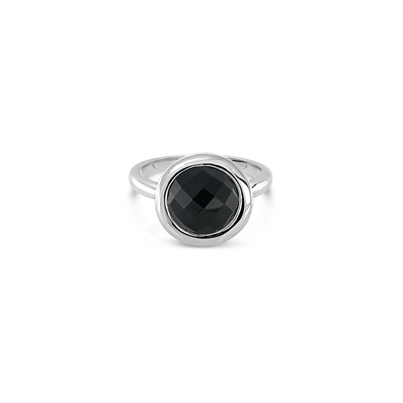 ELVERD DESIGNS Bloom Ring Black Onyx-Rings-Elverd Designs-DREEMS