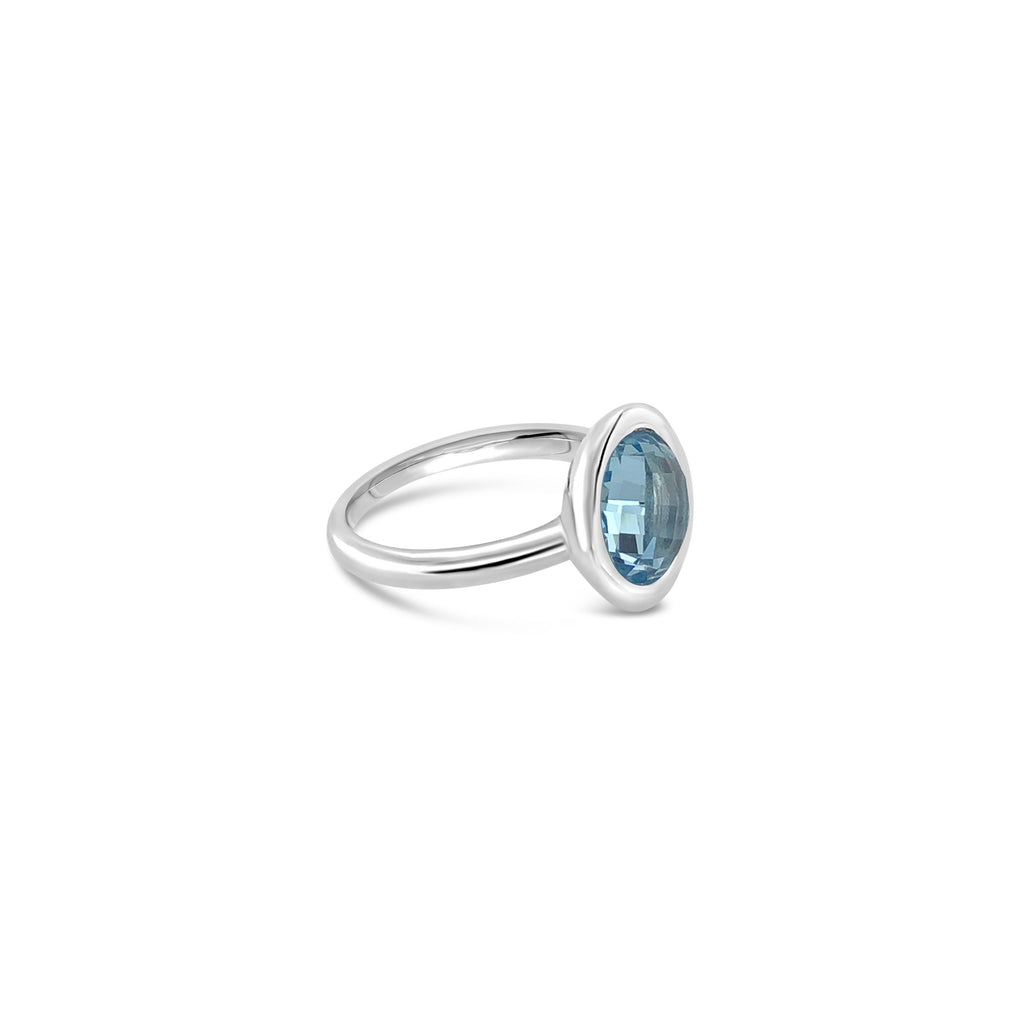 ELVERD DESIGNS Bloom Ring Blue Topaz-Rings-Elverd Designs-DREEMS