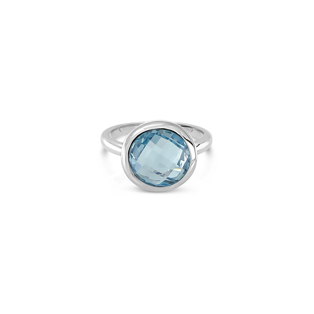 ELVERD DESIGNS Bloom Ring Blue Topaz