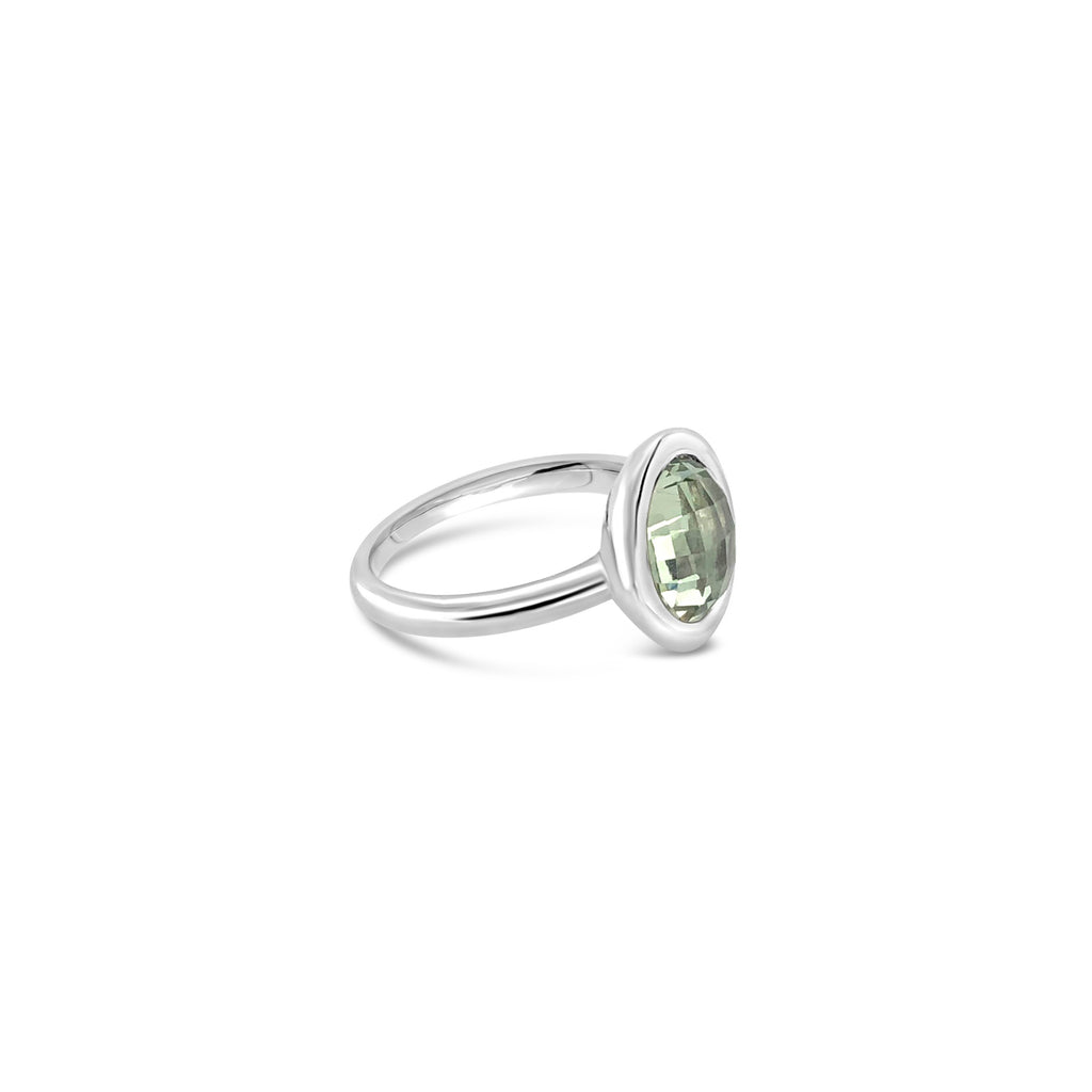 ELVERD DESIGNS Bloom Ring Green Amethyst-Rings-Elverd Designs-DREEMS