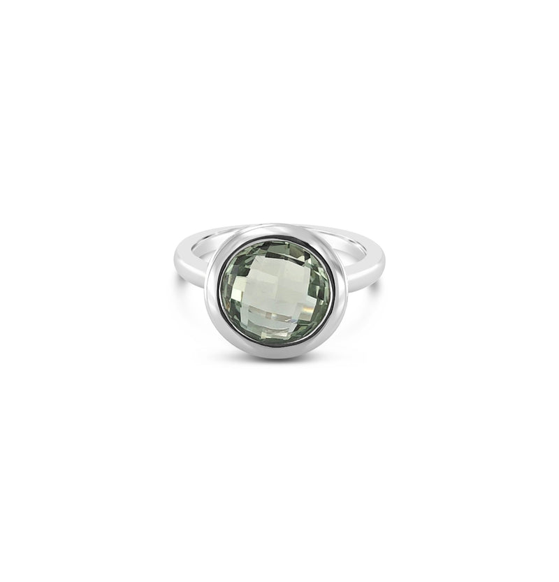 ELVERD DESIGNS Bloom Ring Green Amethyst
