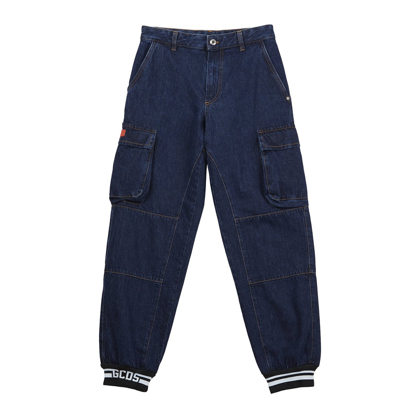 GCDS CARGO FIT DENIM-Bottoms-DREEMS