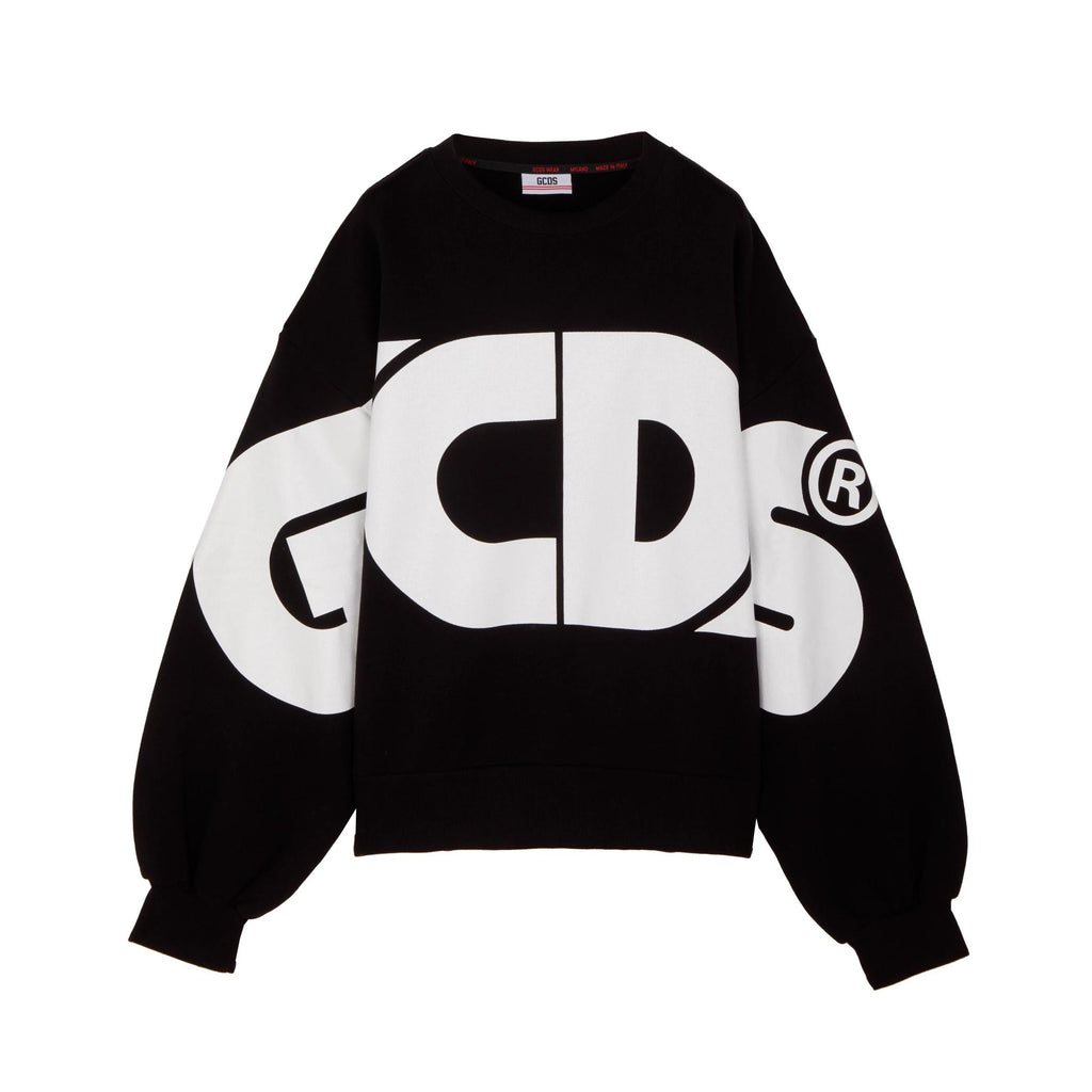 GCDS Huge Crewneck Sweatshirt-Tops-DREEMS
