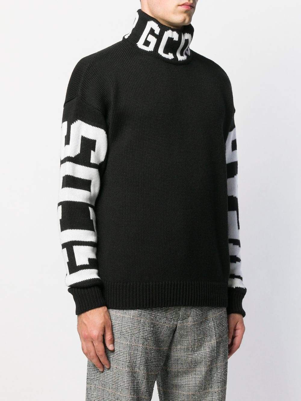 GCDS Logo Print Turtleneck Sweater-Tops-DREEMS