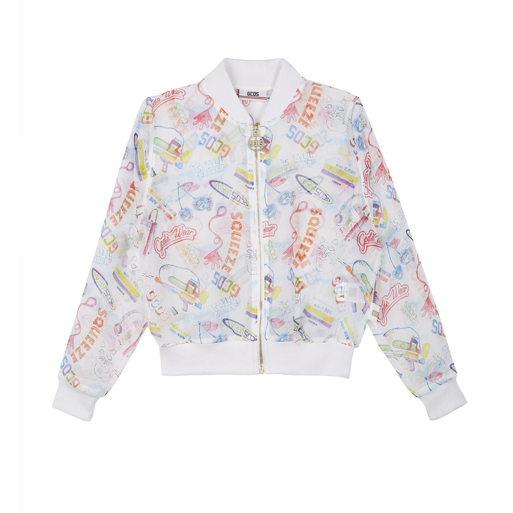 GCDS Watercolor Logo Jacket-Outerwear-DREEMS