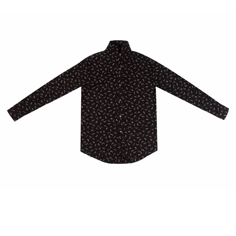 GOSN Dragonfly LS Black Button Down-M-Shirt-DREEMS