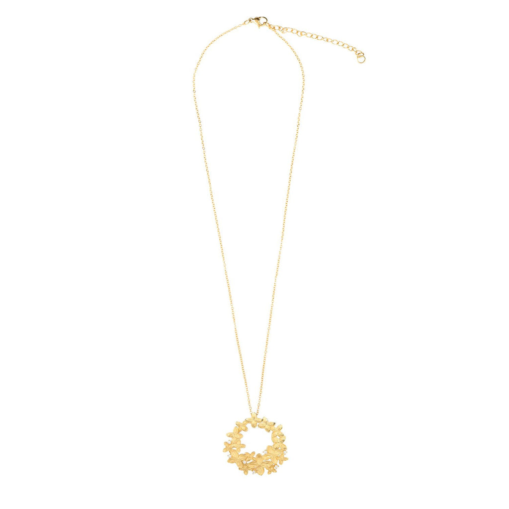 [in]trigue Reminisce Ixora Necklace - Gold-Necklaces-DREEMS