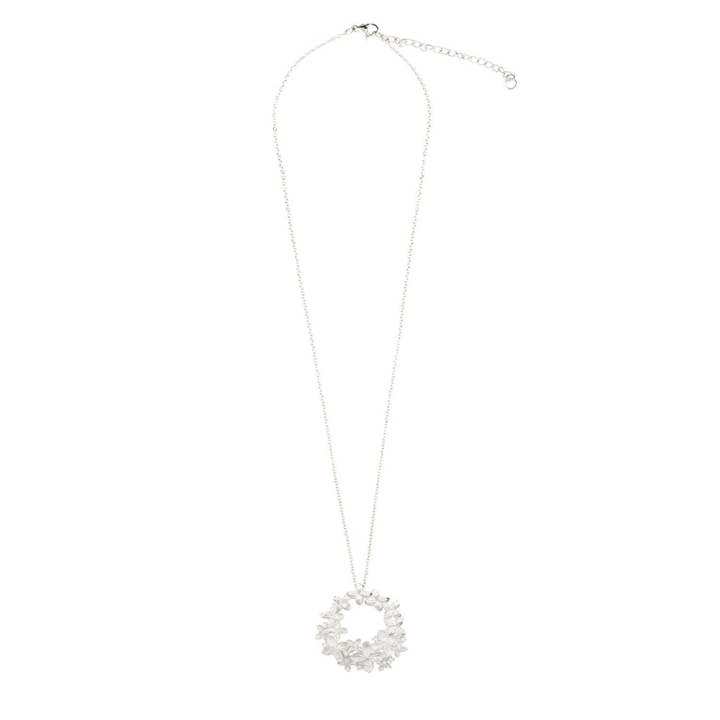 [in]trigue Reminisce Ixora Necklace - Silver-Necklaces-DREEMS