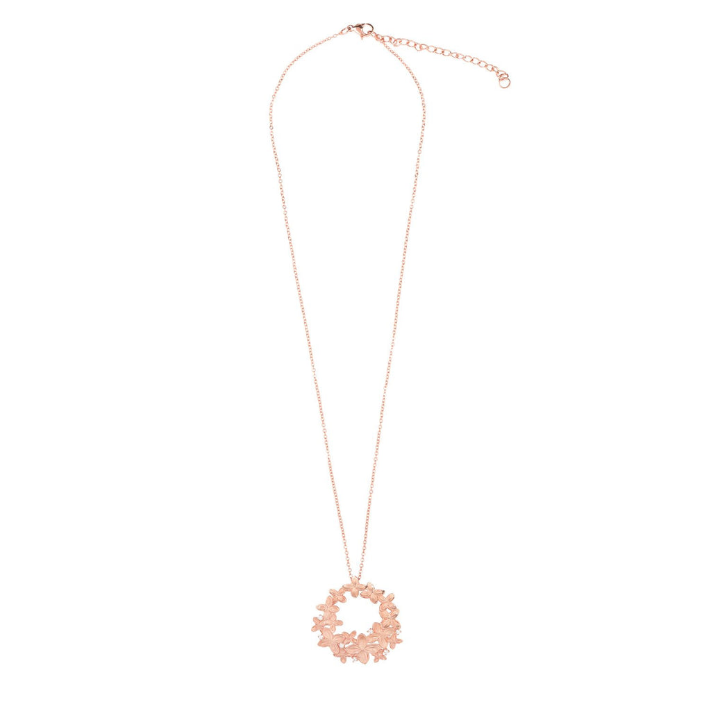 [in]trigue Reminisce Ixora Necklace – Rose Gold-Necklaces-DREEMS