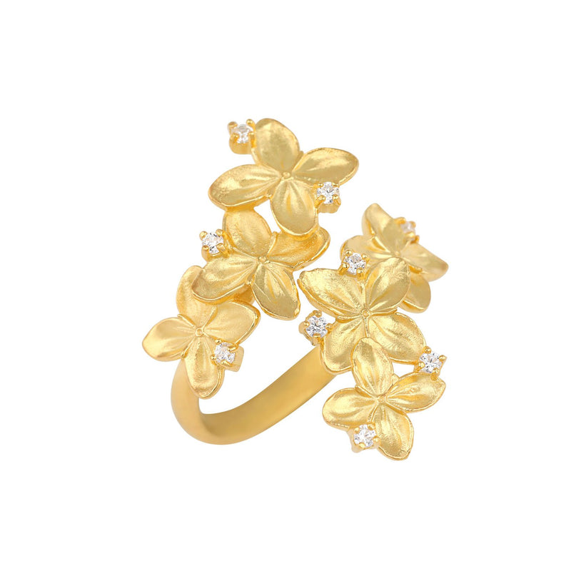 [in]trigue Reminisce Ixora Ring - Gold-Rings-DREEMS