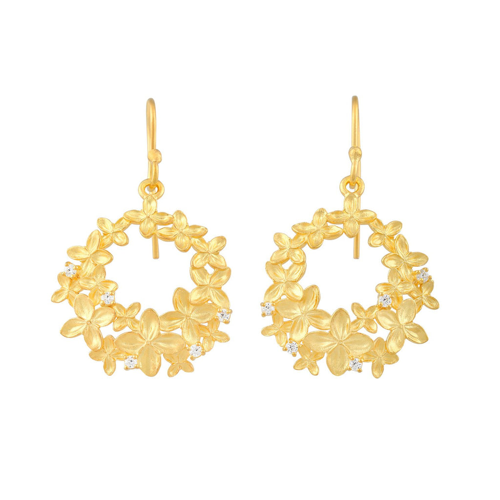 [in]trigue Reminisce Ixora Round Earrings - Gold-Earrings-DREEMS
