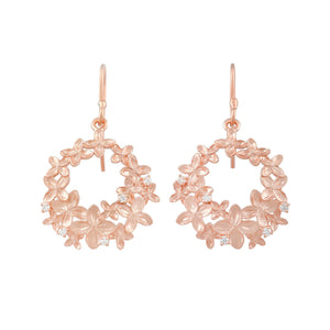 [in]trigue Reminisce Ixora Round Earrings - Rose Gold-Earrings-DREEMS