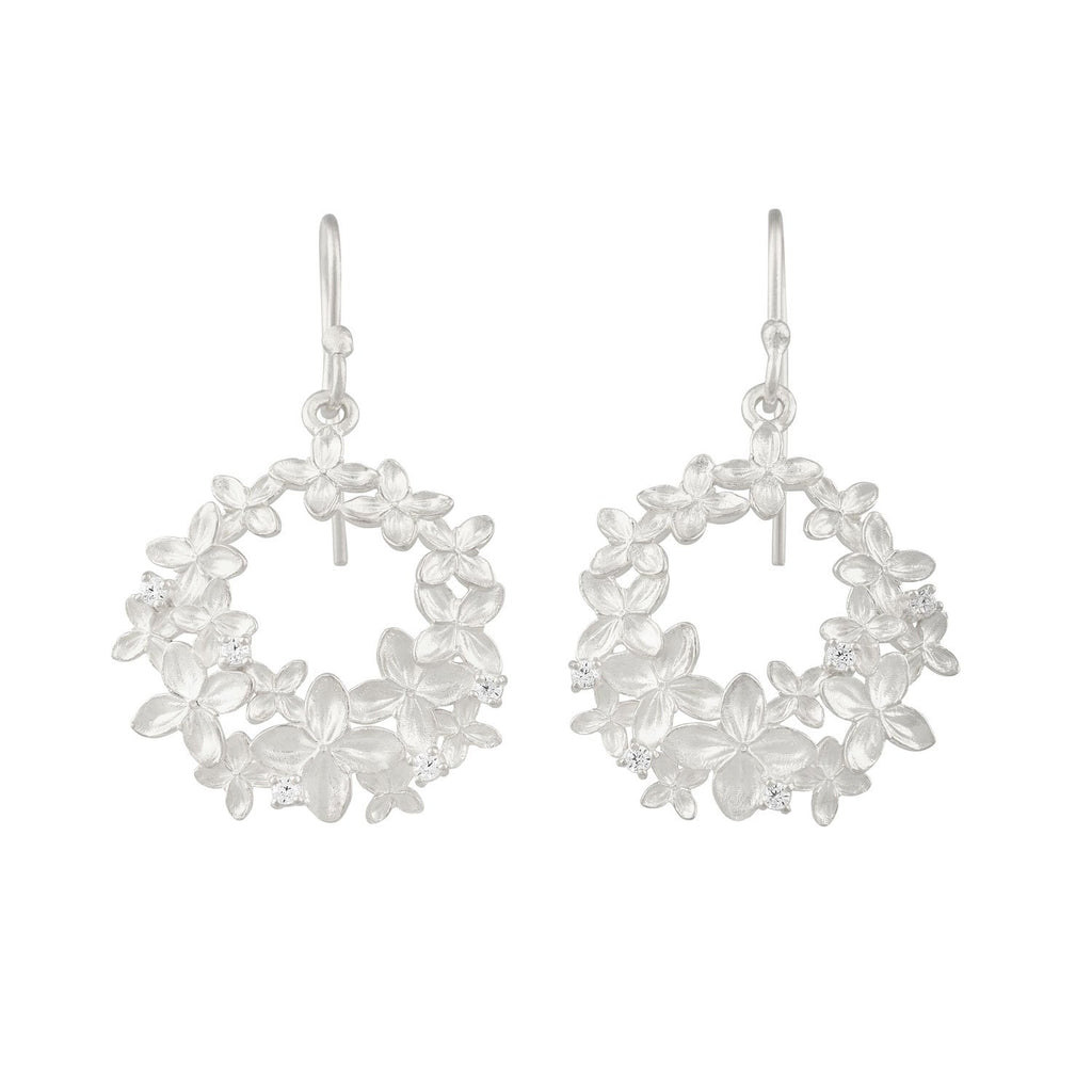 [in]trigue Reminisce Ixora Round Earrings - Silver-Earrings-DREEMS