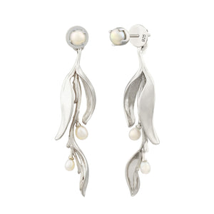 [in]trigue Reminisce Orchid Bud Earrings - Silver-Earrings-DREEMS