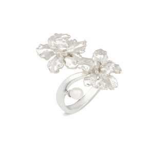 [in]trigue Reminisce Orchid Duo Ring - Silver-Rings-DREEMS