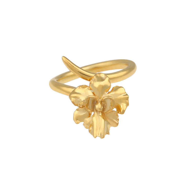 [in]trigue Reminisce Orchid Ring - Gold-Rings-DREEMS