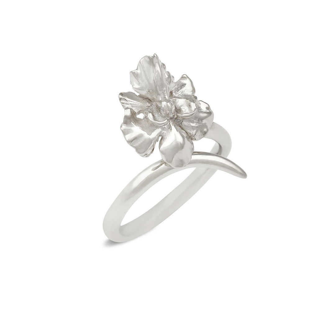 [in]trigue Reminisce Orchid Ring - Silver-Rings-DREEMS