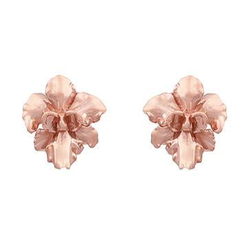 [in]trigue Reminisce Orchid Stud Earrings - Rose Gold-Earrings-DREEMS