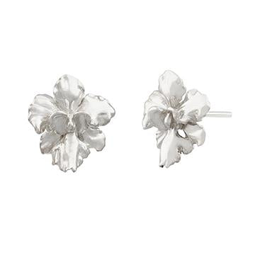 [in]trigue Reminisce Orchid Stud Earrings - Silver-Earrings-DREEMS