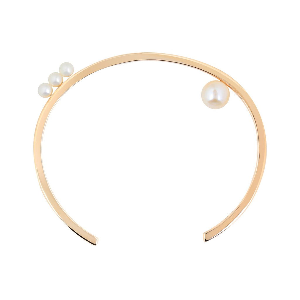 [in]trigue Voyage Pearl Cuff - Gold-Bracelets-DREEMS