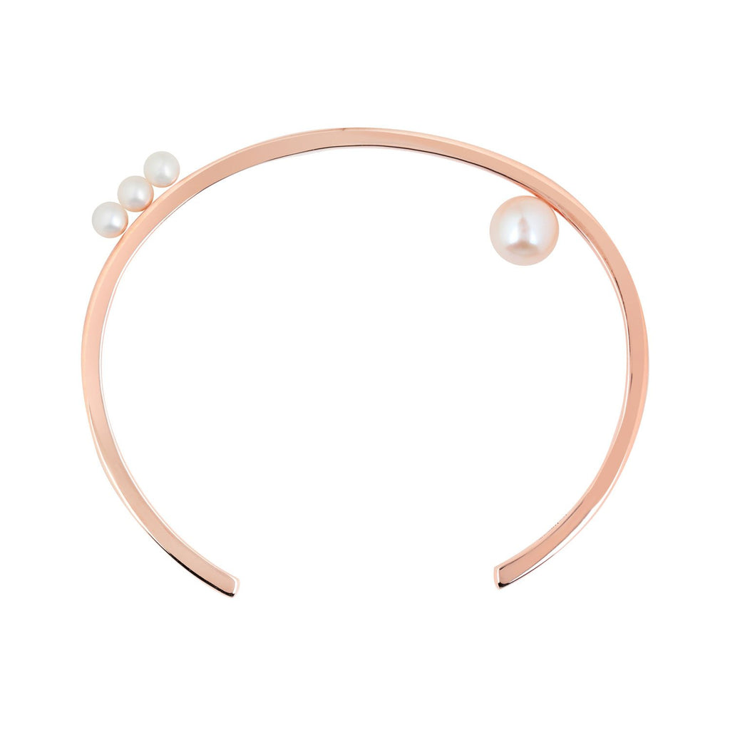[in]trigue Voyage Pearl Cuff – Rose Gold-Bracelets-DREEMS