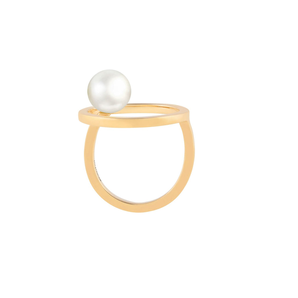 [in]trigue Voyage Pearl Ring - Gold-Rings-DREEMS