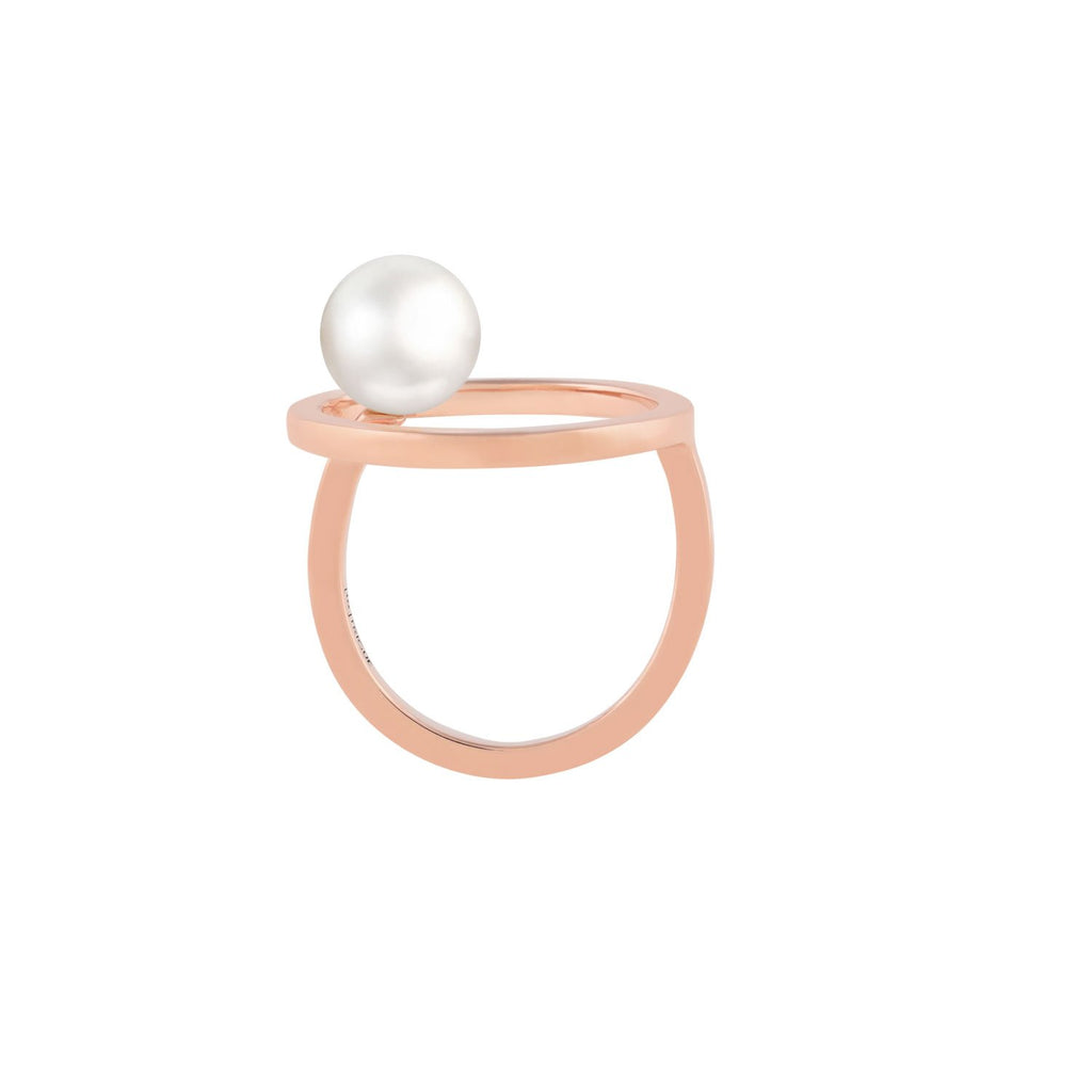 [in]trigue Voyage Pearl Ring – Rose Gold-Rings-DREEMS