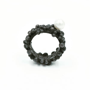 JILL. HERLANDS Black Pearl Ring-Rings-DREEMS
