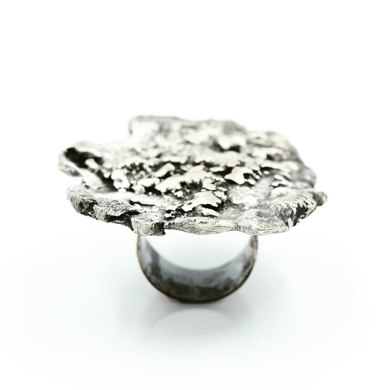 JILL. HERLANDS Silver Splatter Ring-Rings-DREEMS