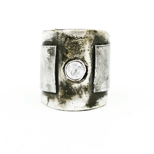 JILL. HERLANDS Sterling & Steel Ring-Rings-DREEMS