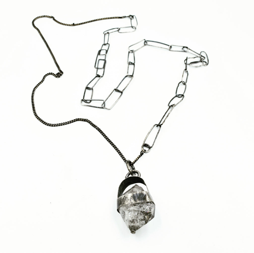 JILL.HERLANDS Herkimer Pendant-Necklaces-DREEMS