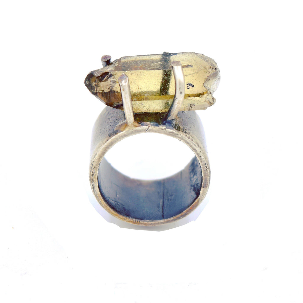 JILL.HERLANDS Topaz Pronged Ring-Rings-DREEMS