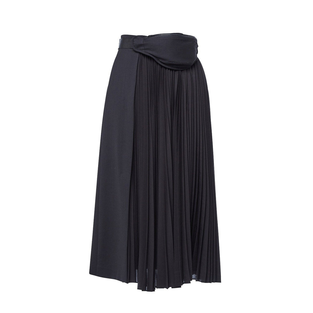 Juun.J Belt Bag Pleated Skirt