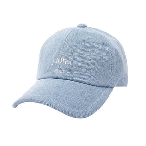 Juun.J Blue Embroidered Logo Ball Cap