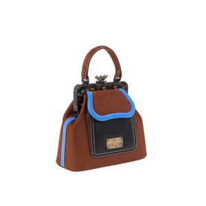 LaLaQueen Dr. Micro Exclusive Handbag Brown/Blue-Bags-DREEMS