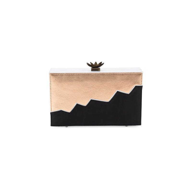 LaLaQueen Pulse Clutch Black/RoseGold-Bags-DREEMS