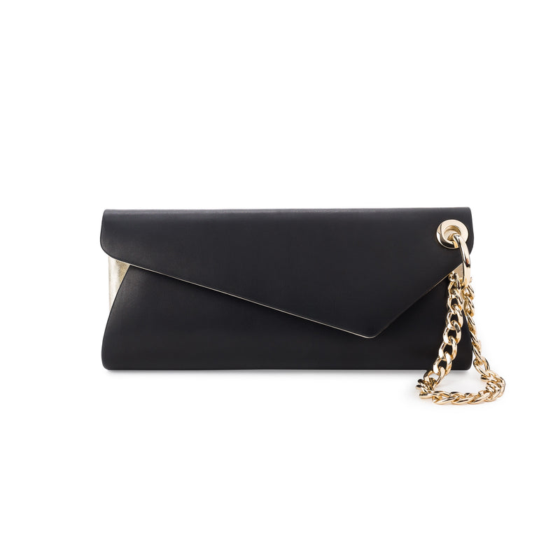 LaLaQueen UnChain My Heart Clutch Black/Silver-Bags-DREEMS