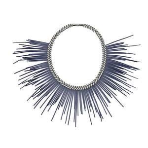 Leyla Gans Sunburst Necklace Navy