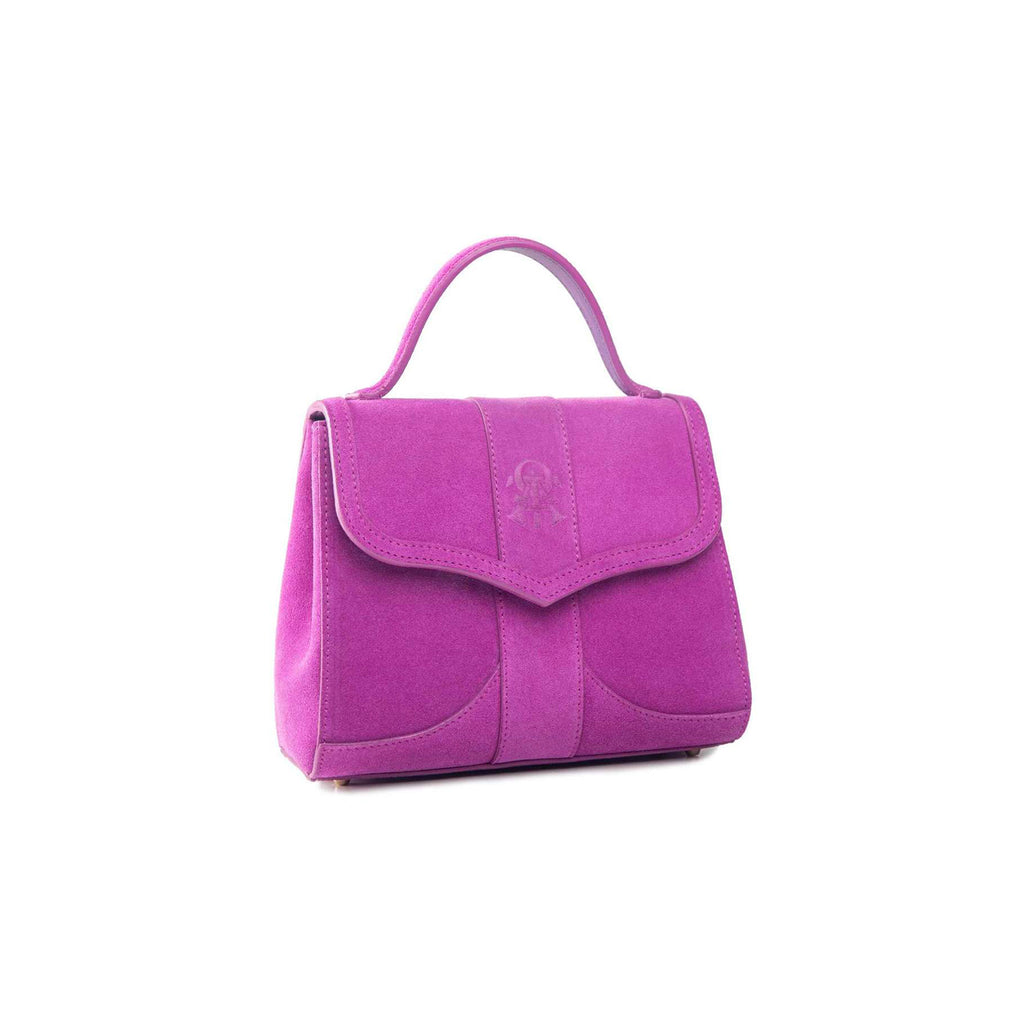 Alef Mini Aura Verbena Suede Leather Handbag