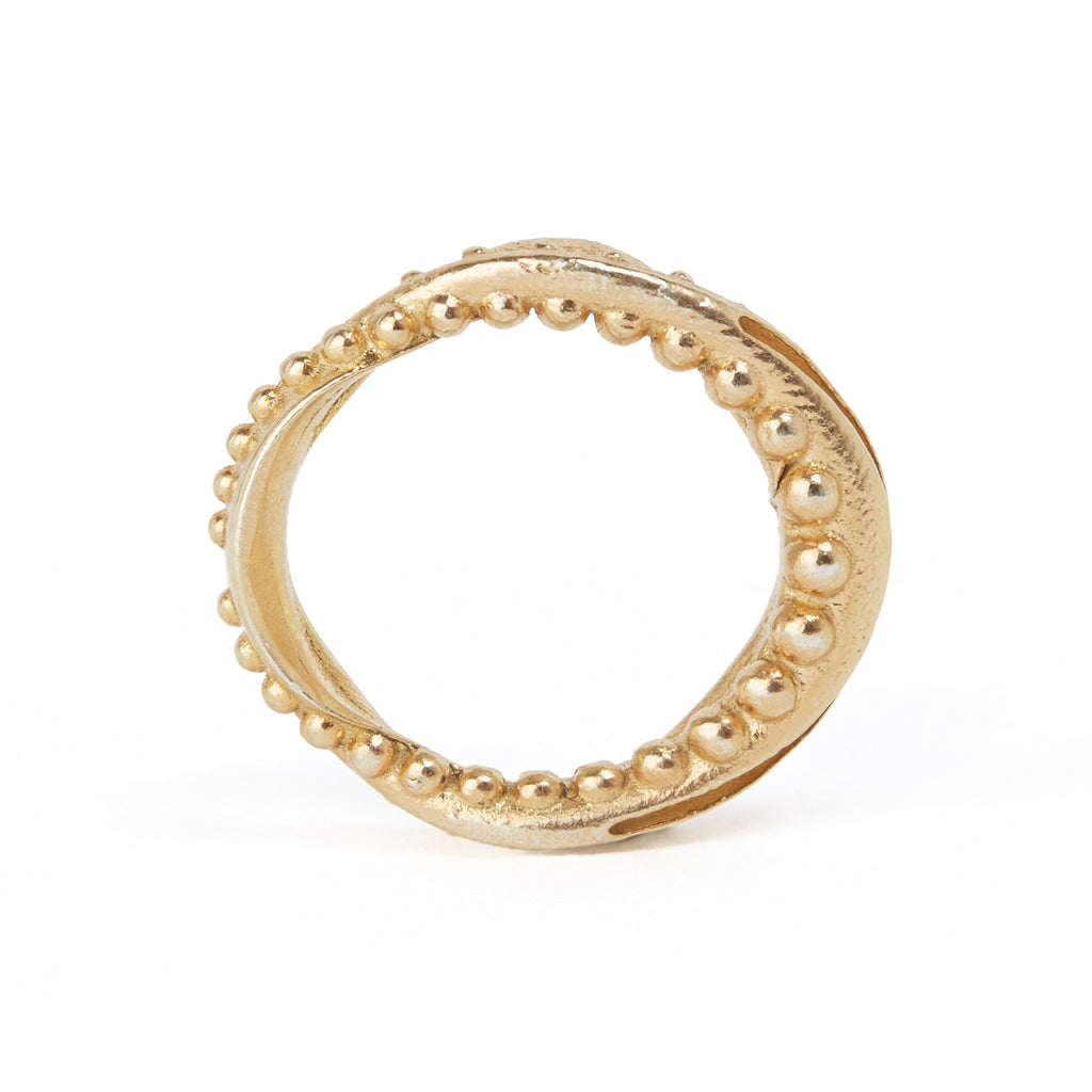 Monica Varela Falie Metal-Beaded Ring-Rings-DREEMS